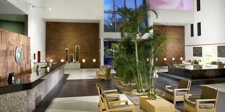 Receptionen på hotell Melia Fuerteventura, Playa Barca, Fuerteventura.