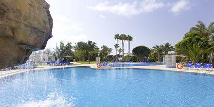 Poolområde på hotell Melia Fuerteventura, Playa Barca, Fuerteventura.