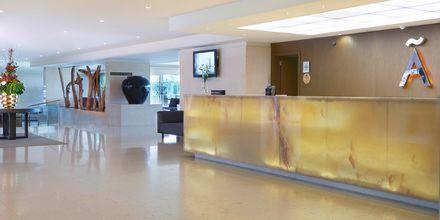 Reception på hotell Melia Madeira Mare på Madeira, Portugal.