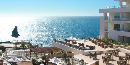 Vackra utsikter från hotell Melia Madeira Mare i Funchal på Madeira, Portugal.