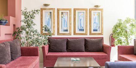 Lobbyn på hotell Melmar i Rethymnon stad på Kreta, Grekland.