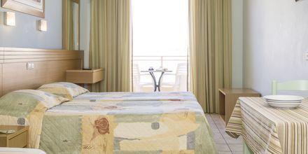 Enrumslägenhet på hotell Melmar i Rethymnon stad på Kreta, Grekland.