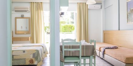 Tvårumslägenhet på hotell Melmar i Rethymnon stad på Kreta, Grekland.