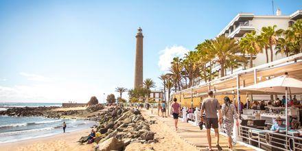 Strandpromenaden i Meloneras på Gran Canaria, Spanien.