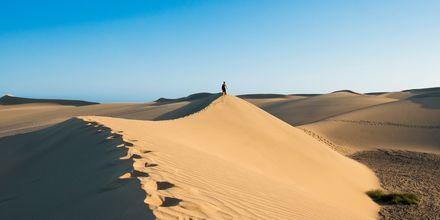 Sanddynerna i Maspalomas, granne med Meloneras på Gran Canaria.