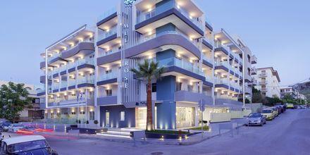 Hotell Melrose i Rethymnon stad på Kreta, Grekland.