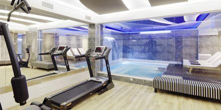 Gym på hotell Melrose i Rethymnon stad på Kreta, Grekland.