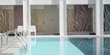 Pool på hotell Melrose i Rethymnon stad på Kreta, Grekland.