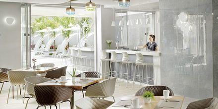 Restaurang på hotell Melrose i Rethymnon stad på Kreta, Grekland.