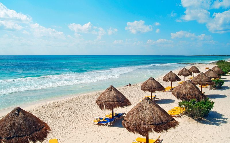 Playa del Carmen på Riviera Maya i Mexiko.