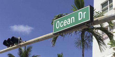 Ocean Drive i Florida, USA.