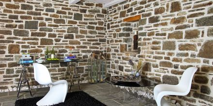 Lobbyn på Mikro Papigo 1700 Hotel & Spa i Zagoria, Grekland.
