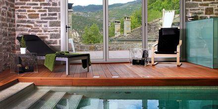 Spa på Mikro Papigo 1700 Hotel & Spa i Zagoria, Grekland.