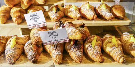 Brioche, ett populärt bakverk i Milano.