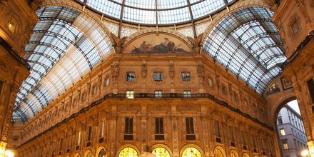 Galleria Vittorio Emanuele II i Milano, Italien.