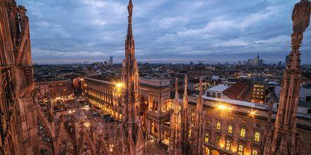 Utsikt från katedralen i Milano.