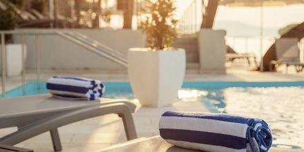 Pool på hotell Milna Osam på Brac, Kroatien.