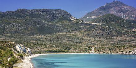 Ahivadolimni-stranden på Milos, Grekland.