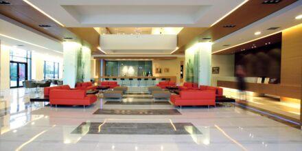 Lobbyn på hotell Minoa Palace Resort & Spa i Platanias på Kreta, Grekland.