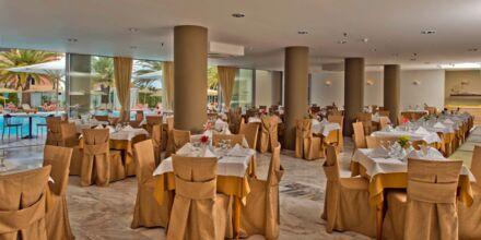 Restaurang på hotell Minos i Rethymnon, Kreta.