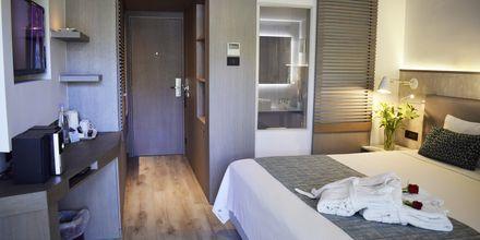 Dubbelrum på hotell Minos Mare i Rethymnon på Kreta, Grekland.