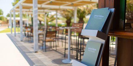 A la carte-restaurang på hotell Minos Mare i Rethymnon på Kreta.