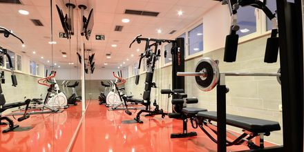 Gymmet på hotell Miramare i Makarska, Kroatien.