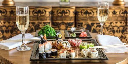 Sushi i restaurangen på hotell Laguna Resort & Spa i Anissaras.