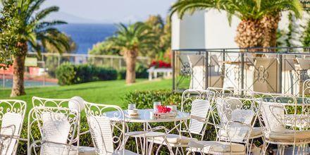 Restaurang på hotell Mitsis Norida Beach Hotel i Kardamena på Kos, Grekland.