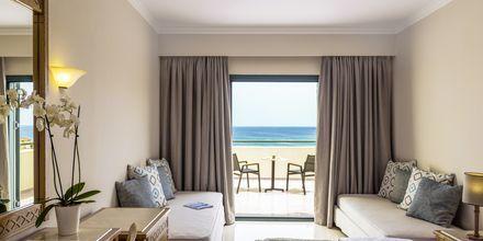 Dubbelrum i bungalow med havsutsikt.