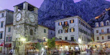 Gamla delen av Unesco-skyddade staden Kotor, Montenegro.