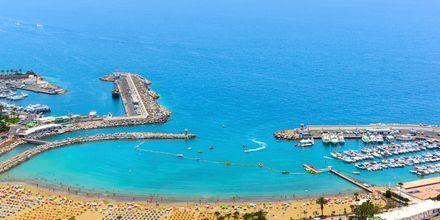 Utsikt från hotell Monteparaiso i Puerto Rico, Gran Canaria.