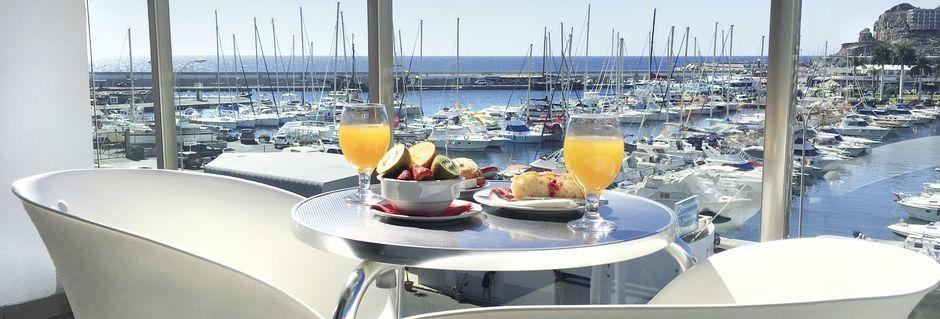 Balkong till lägenhet på Morasol Suites i Puerto Rico, Gran Canaria.