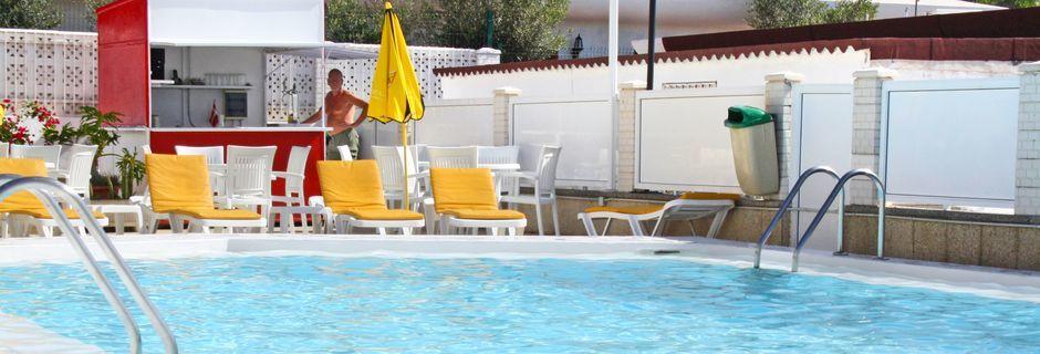 Poolen på hotell Mozart i Puerto Rico på Gran Canaria, Spanien.