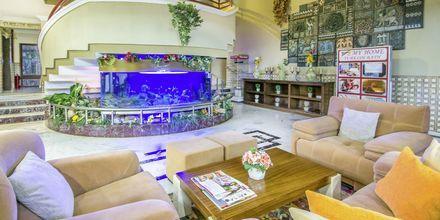 Lobbyn på hotell My Home i Alanya, Turkiet.