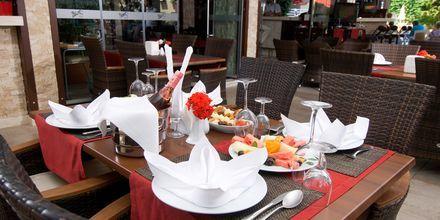 Restaurang på hotell My Home i Alanya, Turkiet.