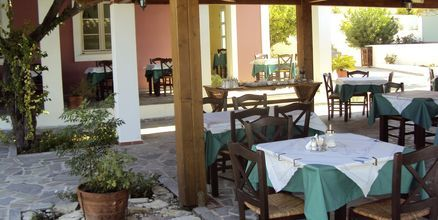 Restaurang på Hotell Mykali i Pythagorion, Samos.