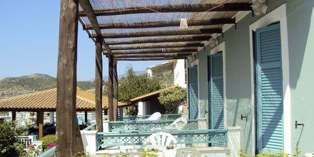 Dubbelrum på hotell Mykali i Pythagorion, Samos.