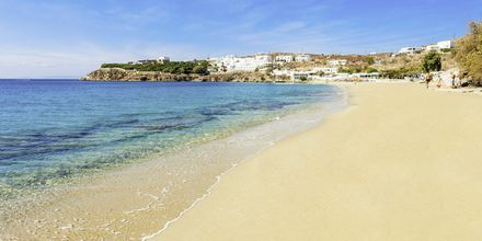 Agios Stefanos Beach på Mykonos, Grekland.