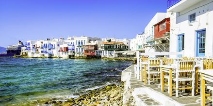 Little Venice i Mykonos stad