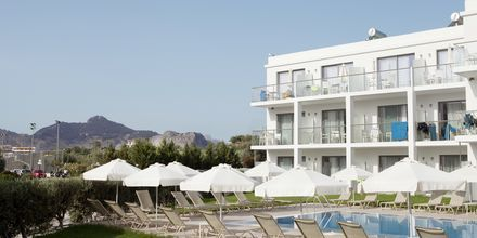 Sidobyggnad på hotell Mythos Beach Resort i Afandou, Rhodos.