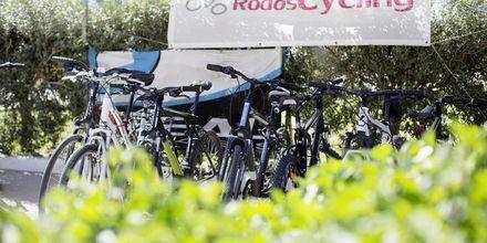 Hyr cykel på hotell Mythos Beach Resort i Afandou, Rhodos.