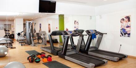 Gymmet på hotell Mythos Beach Resort i Afandou på Rhodos.