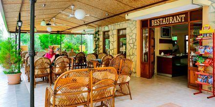 Restaurang på hotell Nar Apart i Side, Turkiet.