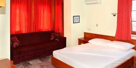 Dubbelrum på hotell Nar Pension i Side, Turkiet.