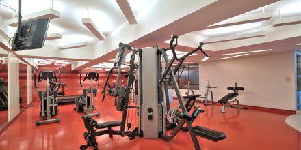 Gym på hotell Narai i Bangkok, Thailand.