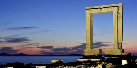Portalen i Naxos stad, Grekland.