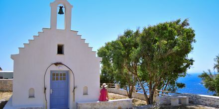Kyrka i Akrotiri på Naxos, Grekland.