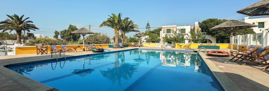 Hotell Naxos Beach i Naxos stad på Naxos, Grekland.