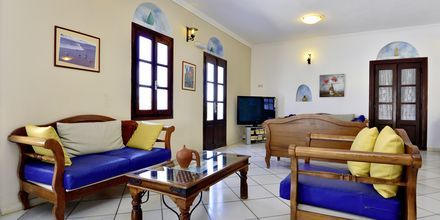 Lobby på hotell Naxos Holidays i Naxos stad, Grekland.